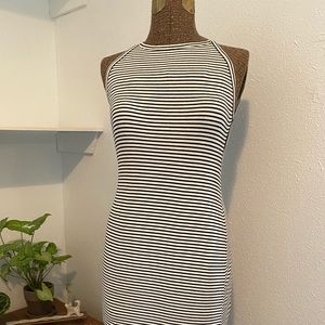Backless Silence and Noise Striped Dress